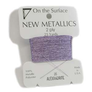 On the Surface - New Metallics 2 Ply 25yds Thread Alexandrite