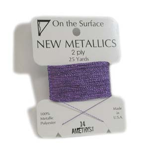 On the Surface - New Metallics 2 Ply 25yds Thread Amethyst