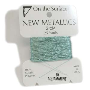 On the Surface - New Metallics 2 Ply 25yds Thread Aquamarine