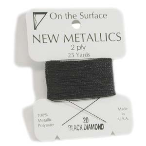 On the Surface - New Metallics 2 Ply 25yds Thread Black Diamond