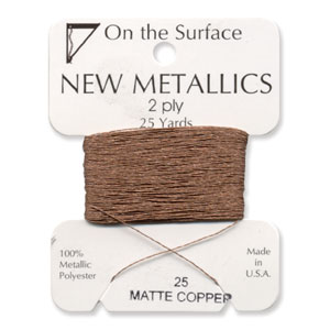 On the Surface - New Metallics 2 Ply 25yds Thread Matte Copper
