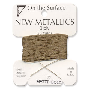 On the Surface - New Metallics 2 Ply 25yds Matte Gold