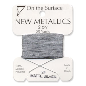 On the Surface - New Metallics 2 Ply 25yds Matte Silver