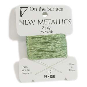 On the Surface - New Metallics 2 Ply 25yds Thread Peridot