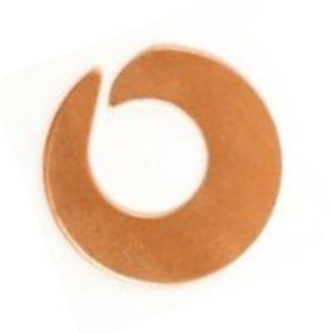 Copper Metal Stamping Blank, Open Swirl Washer (1 inch) 25.5mm 24ga x1