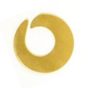 "Brass Open Swirl Washer 1"" 25.5mm 24g Stamping Blank x1"