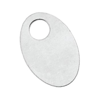 Aluminium Soft Strike Oval Washer 30x20mm 20ga Metal Stamping Blank x1