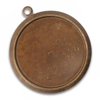 Vintaj Natural Brass 30.6mm Classic Circle (27.6mm id) Bezel x1