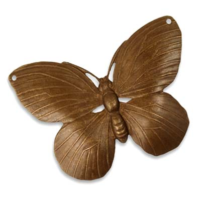 Vintaj Natural Brass 50.5x40mm Lunarfly Pendant