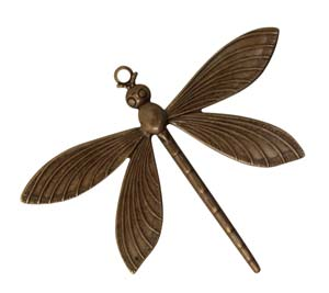 Vintaj Natural Brass 51x63mm Dragonfly x1