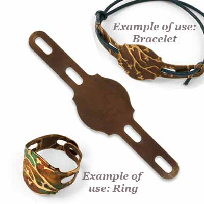 Vintaj Natural Brass 72mm Regal Ring - Bracelet Blank