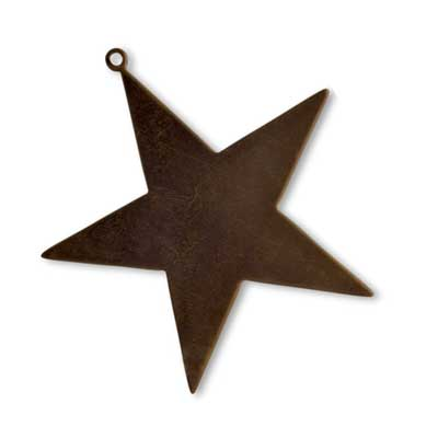 Vintaj Natural Brass 50mm Large Star Blank x1
