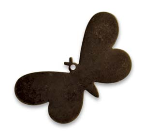 Vintaj Natural Brass 33x18mm Fairy Butterfly x1
