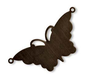Vintaj Natural Brass 47x21mm Suspended Butterfly x1