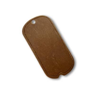 Vintaj Natural Brass 25x12.5mm Mini Dog Tag x1