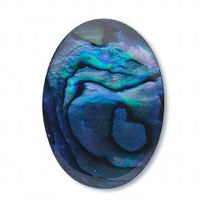 Cabochon - Paua Shell Blue 25x18mm Oval x1