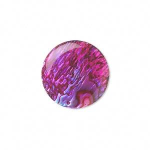 Cabochon - Paua Shell Pink 20mm Round x1
