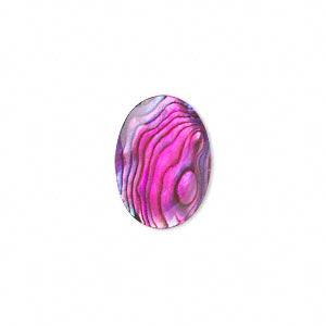 Cabochon - Paua Shell Pink 18x13mm Oval x1