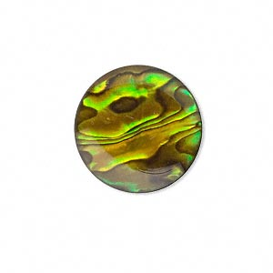 Cabochon - Paua Shell Gold 20mm Round x1
