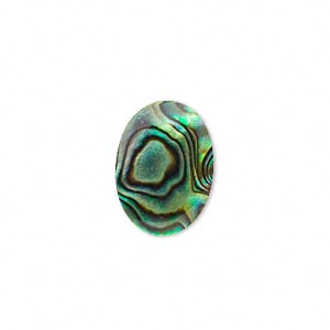 Cabochon - Paua Shell Gold 18x13mm Oval x1