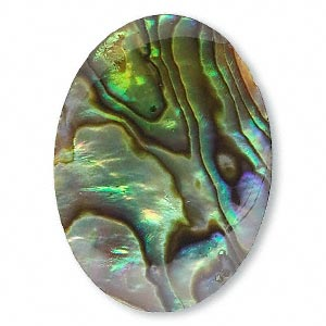 Cabochon - Paua Shell Gold 30x22mm Oval x1