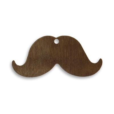 Vintaj Natural Brass 14.5x31mm Mini Mustache Blank