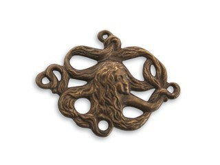 Brass VINTAJ - Natural - 23x26 x35mm Maiden Tresses x1