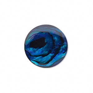 Cabochon - Paua Shell Blue 20mm Round x1