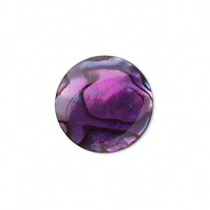 Cabochon - Paua Shell Purple 20mm Round x1