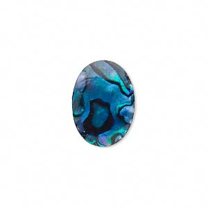 Cabochon - Paua Shell Blue 18x13mm Oval x1