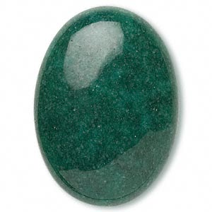 Cabochon - Mountain Jade Green 25x18mm Oval x1