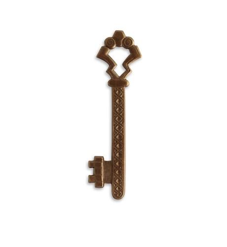 Vintaj Natural Brass 55x15mm Gate Key x1