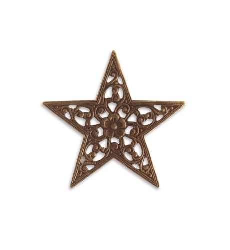 Brass VINTAJ - Natural - 45mm Star Trellis x1