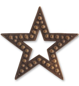 Brass VINTAJ - Natural - 45mm Beaded Star x1