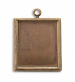 Vintaj Natural Brass 28x25mm Rectangle Bezel x1