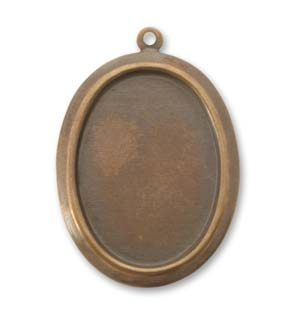 Vintaj Natural Brass 30x24mm Oval Bezel (25x18mm) x1