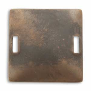 Vintaj Natural Brass 32x32mm Square Blank Connector x1