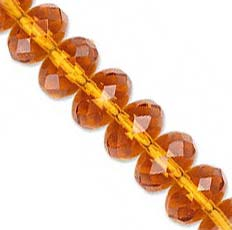 Czech Glass Fire Polished beads 11/7mm Roundel x1 Topaz
