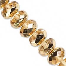 Czech Glass Fire Polished beads 11/7mm Roundel x1 Gold Light Metallic