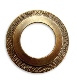 Vintaj Natural Brass 40mm Multi-tiered Donut x1