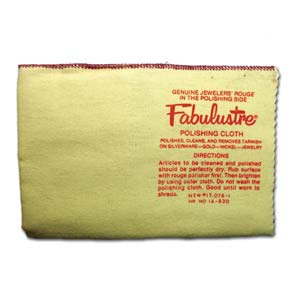 Fabulustre Jewellery Rouge Cleaning Polishing Cloth x1