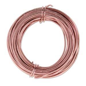 Aluminium Wire 18 gauge (1mm) x39ft (12m) Rose Gold