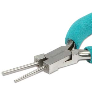 Beadsmith Bail Making - Wire Coiler Pliers 1.5mm and 2mm mandrel Jaws