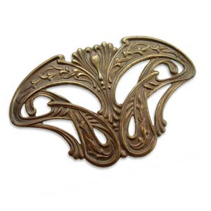 Vintaj Natural Brass - 88x53mm Damsel Wings x1
