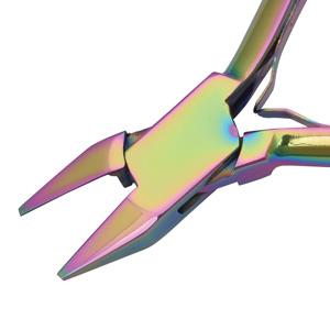 Beadsmith Pliers, Chroma Rainbow Titanium Flush Cutter Plier