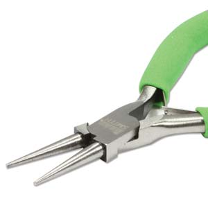 Beadsmith Colour ID Green Round Nose Economy Pliers - Jewellers Tools