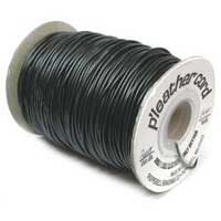 P' Leather Cord, 1mm Black per 3 metre