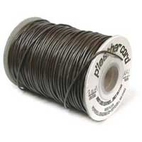 P' Leather Cord, 1mm Dark Brown per 3 metre