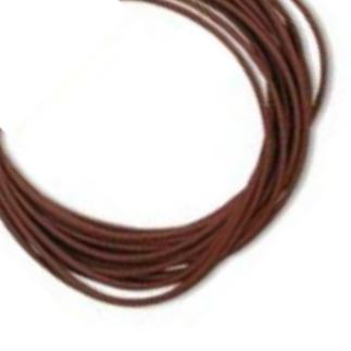 P' Leather Cord, 1mm Chestnut Brown per 3 metre
