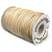 P' Leather Cord 2mm, Natural Tan per 3 metre
